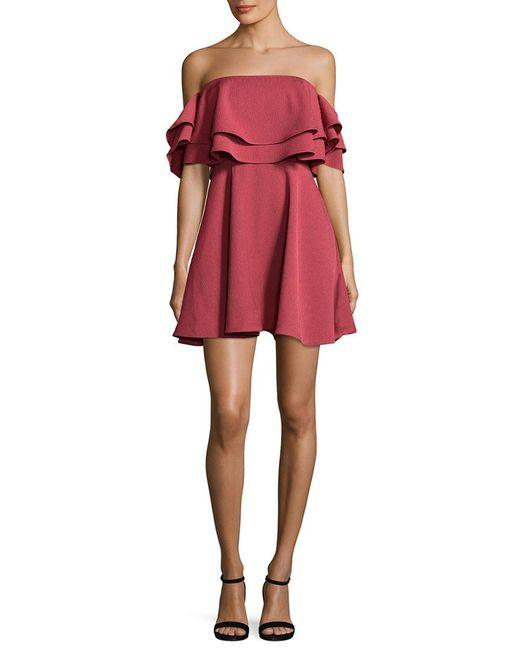 Keepsake - Two Fold Flounced Flared Dress - Lyst