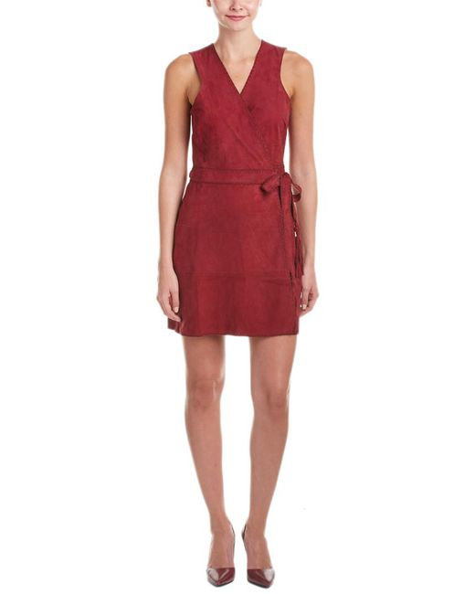 Calypso St. Barth - Red Tuqa Suede Wrap Dress - Lyst