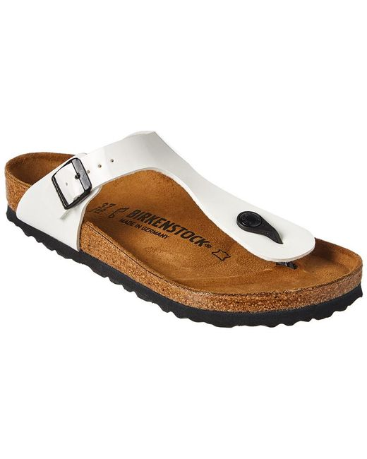 bc3270a9e931 Birkenstock Gizeh Birko-flor Patent Leather Sandal in White - Save ...