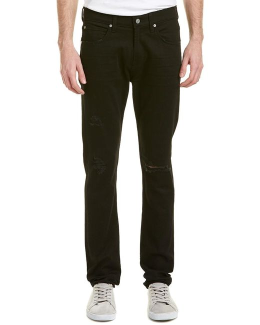 7 For All Mankind - 7 For All Mankind Paxtyn True Black Slim Leg for Men - Lyst