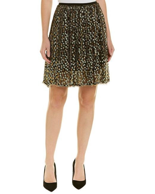 4704249351 Elie Tahari Silk-blend A-line Skirt in Yellow - Save 1% - Lyst