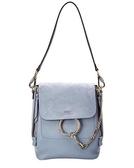 Chloé - Multicolor Faye Small Leather & Suede Backpack - Lyst