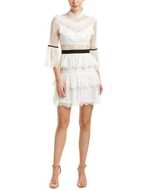 Lyst - Self-Portrait Cocktail Dress in White