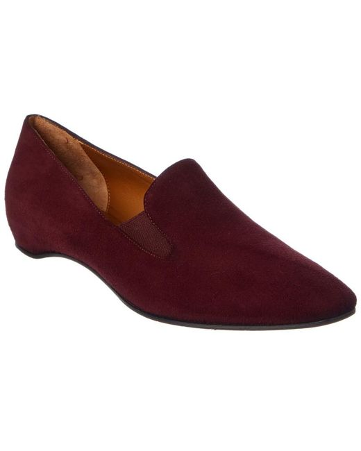 Aquatalia - Red Marianne Waterproof Suede Loafer - Lyst