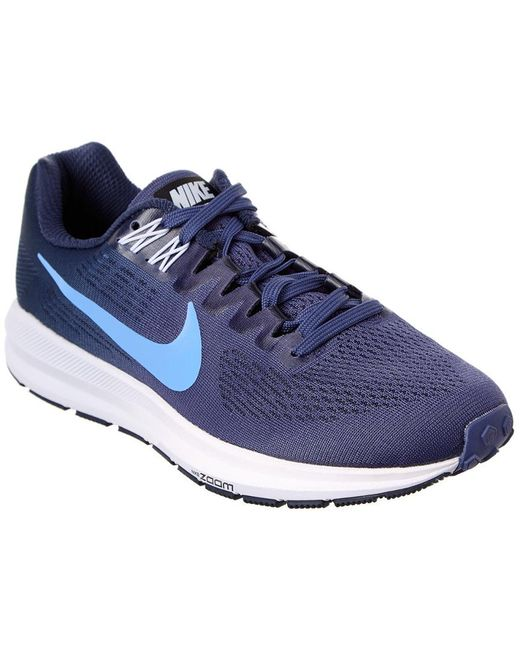 Nike - Blue Air Zoom Structure 21 Running Shoe - Lyst ...