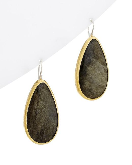 Gurhan - Multicolor One Of A Kind Galapagos 24k & Silver 66.00 Ct. Tw. Obsidian Drop Earrings - Lyst
