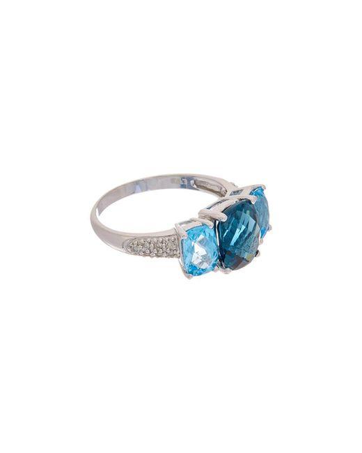 Effy - Blue Fine Jewelry 14k 4.67 Ct. Tw. Diamond & Topaz Ring - Lyst