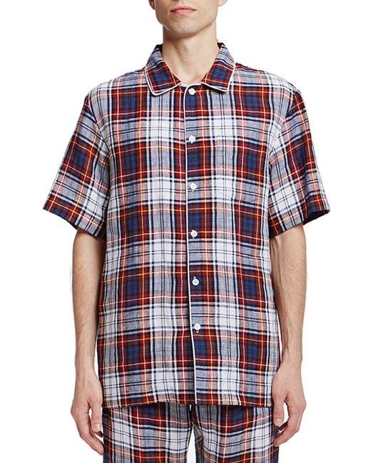 Sleepy Jones - Red Henry Pajama Shirt for Men - Lyst