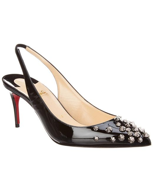 Christian Louboutin - Black Drama Sling 70 Patent Leather Pumps - Lyst