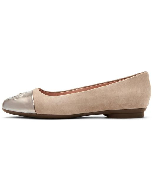 92810517d95 ... Taryn Rose - Multicolor Annabella Leather Ballet Flat - Lyst