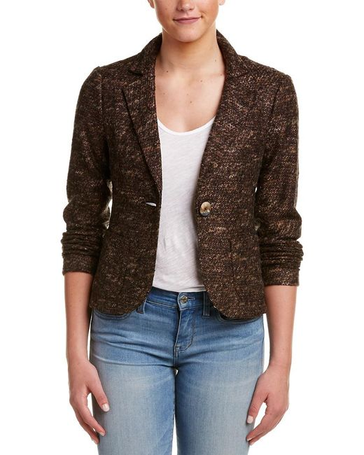 Nanette Lepore - Brown Mystery Train Wool-blend Jacket - Lyst