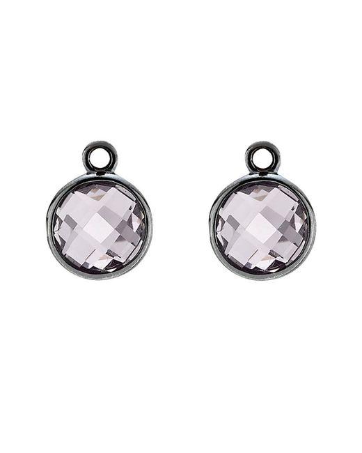 Pandora Metallic Elegance Silver Amethyst Earring Charms Lyst