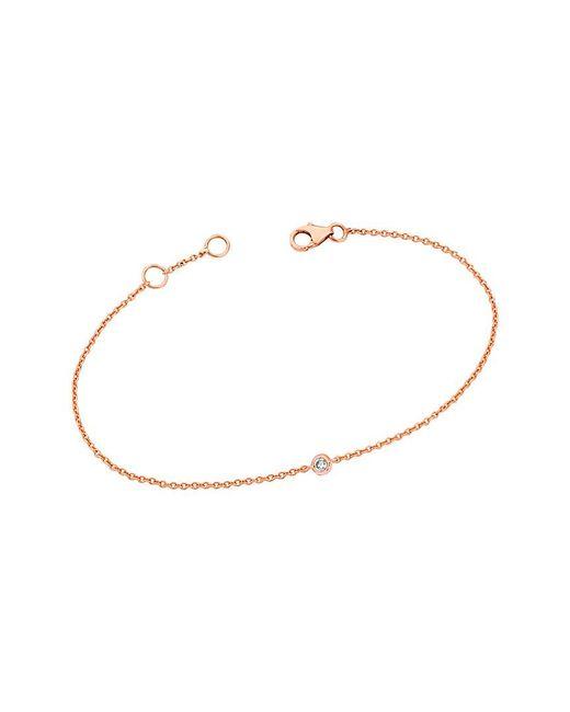 Ariana Rabbani - Metallic 14k Rose Gold Diamond Solitaire Bracelet - Lyst