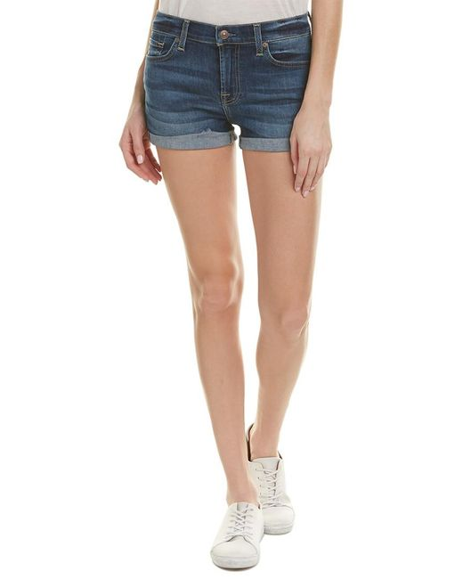 7 For All Mankind - Blue 7 For All Mankind Kearney Authentic Relaxed Roll-up Short - Lyst