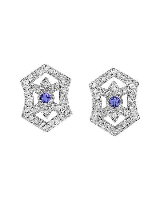 Effy - Metallic Fine Jewelry 14k 0.83 Ct. Tw. Diamond & Tanzanite Earrings - Lyst