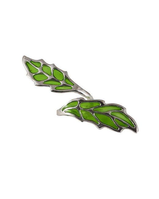 Bernard Delettrez - Openwork Green Enamel Bronze Ring - Lyst
