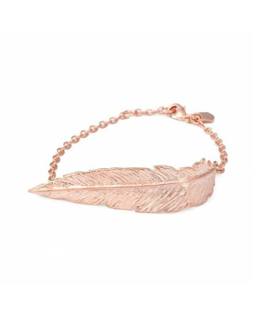 Leivan Kash | Multicolor Feather Chain Bracelet | Lyst