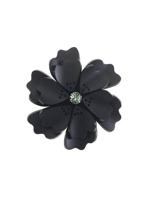 Forest Of Chintz - Black Flower Brooch - Lyst