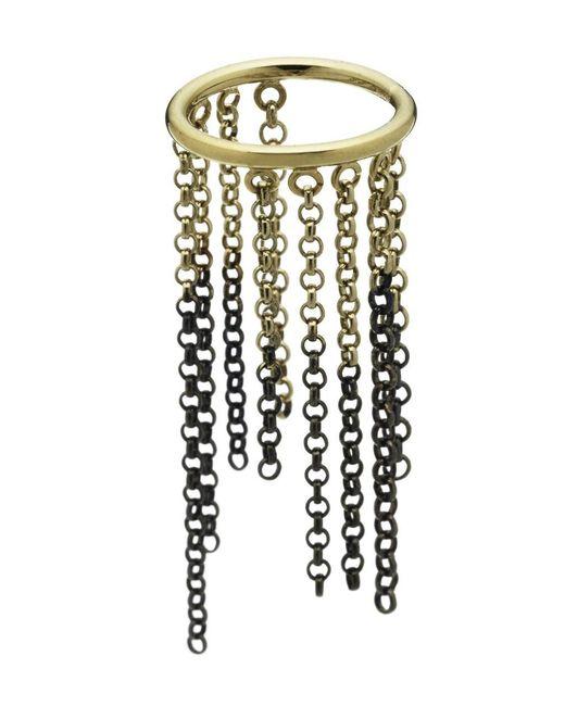 Caterina Zangrando | Metallic Gold And Ruthenium Nettle Ring | Lyst