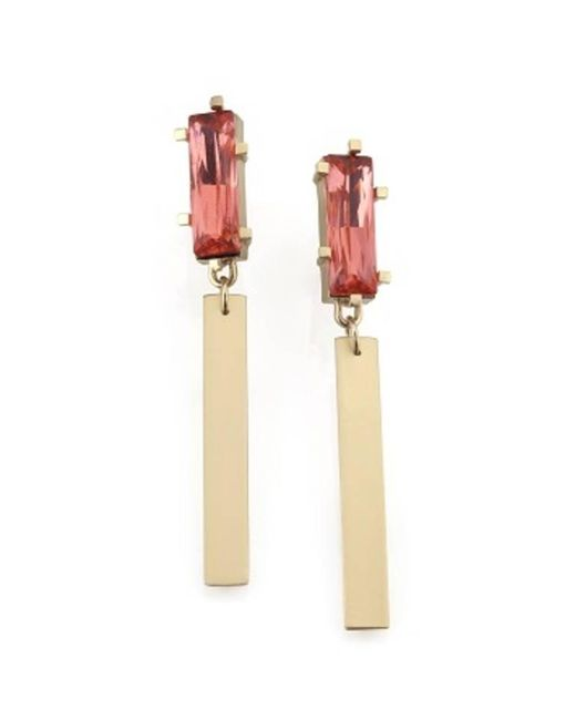 Noritamy | Metallic Large Obi Earrings With Crystal | Lyst