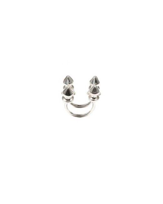 Bernard Delettrez | Metallic Four Stud Silver Ring | Lyst