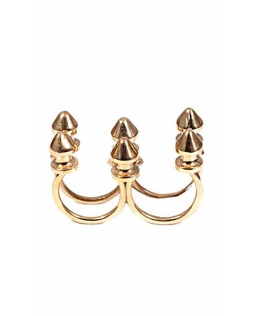 Bernard Delettrez | Metallic Six Stud Bronze Ring | Lyst