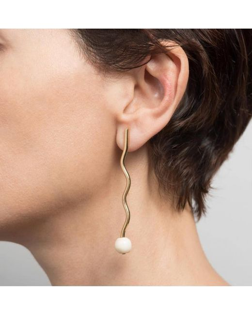 Hissia | Metallic Marina Earrings | Lyst