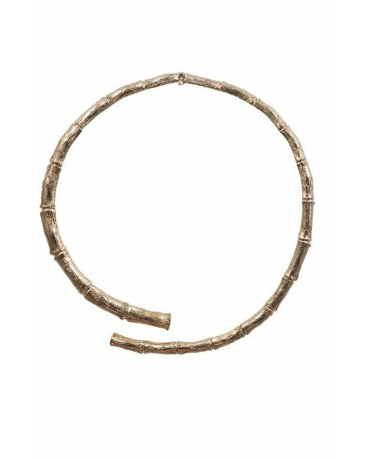 Bernard Delettrez | Metallic Brass Bamboo Necklace | Lyst