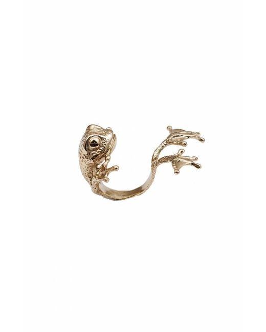 Bernard Delettrez | Metallic Bronze Frog Ring With Big Feet | Lyst