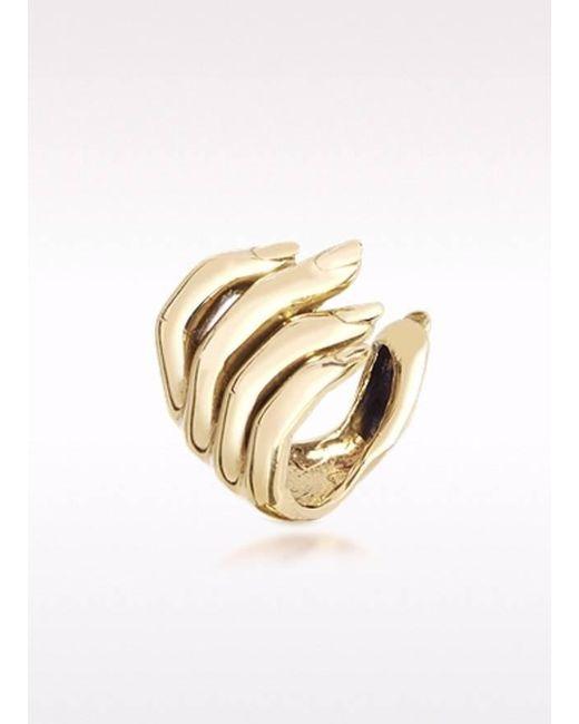 Bernard Delettrez | Metallic Open Hand Bronze Ring | Lyst