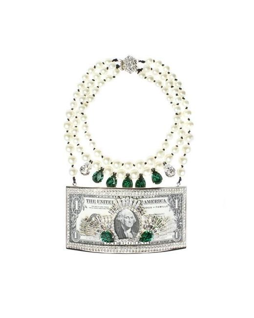 Bijoux De Famille | Green Million Dollar Plastron Necklace | Lyst