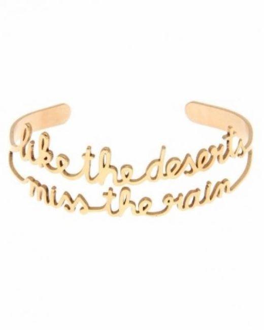 Vanina | Metallic Desert's Rain Gold Plated Bracelet | Lyst