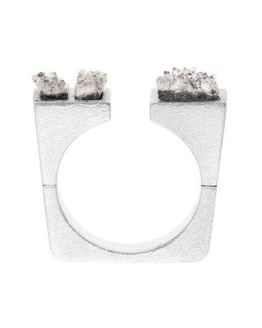 Pasionae | Metallic Asymmetrical Crystal Ring | Lyst