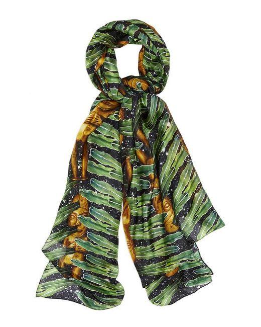 Kekkai | Green Aztec Jungle Patch Silk Scarf | Lyst