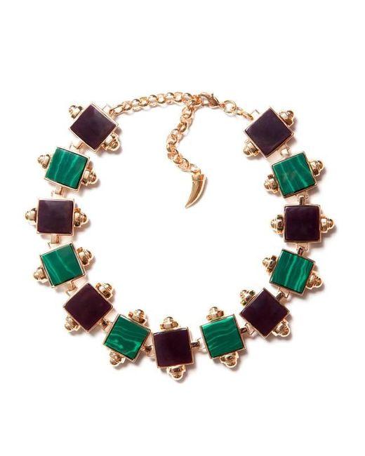 Eshvi | Multicolor Back To School Malachite Choker Necklace | Lyst