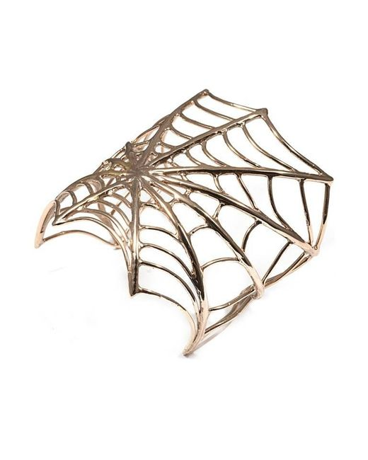 Bernard Delettrez | Metallic Web Bronze Cuff | Lyst