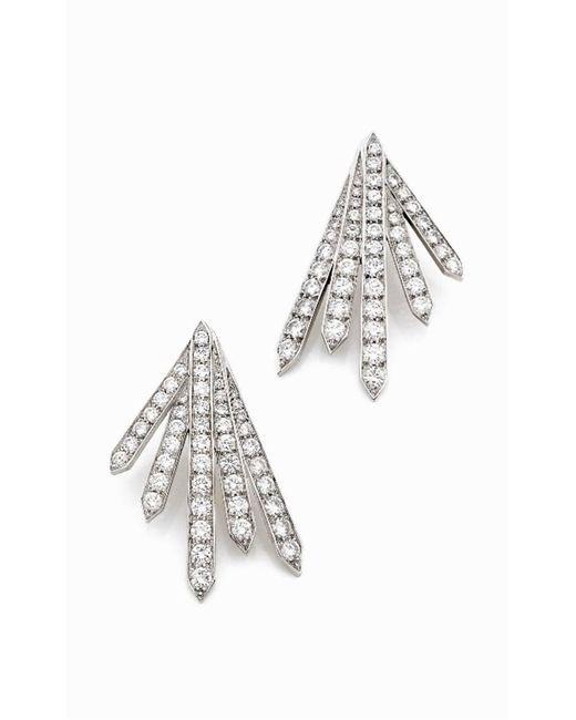 Stéphanie Deydier | White Siku Diamond Pave Sunburst Earrings | Lyst
