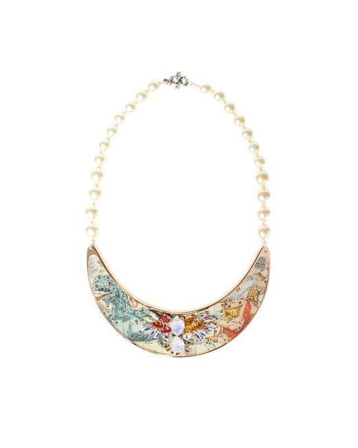 Bijoux De Famille | Pink Zodiac Small Plastron Necklace | Lyst