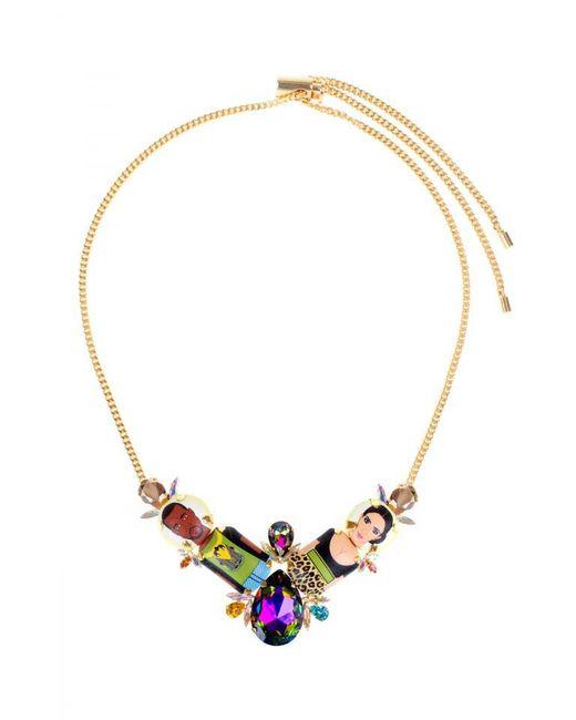 "Bijoux De Famille | Metallic ""kanye Kim"" Plastron Necklace | Lyst"