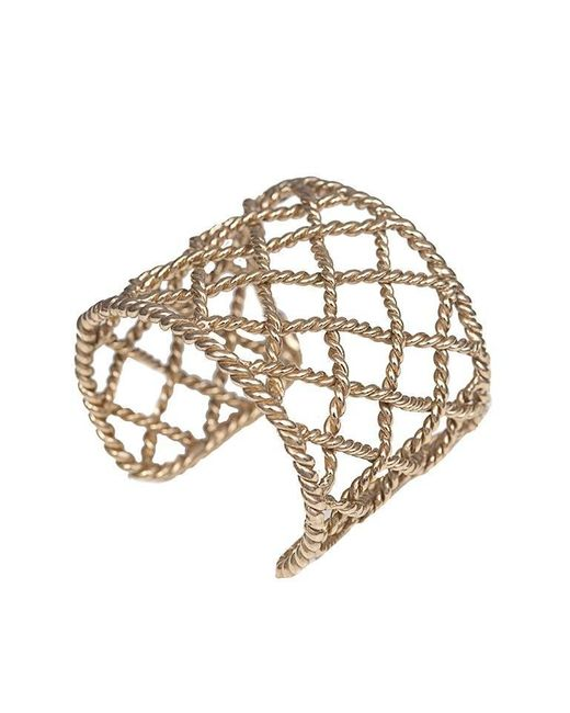 Bernard Delettrez | Metallic Basket Weave Bronze Cuff | Lyst