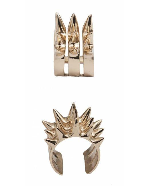 Bernard Delettrez | Metallic Triple Spike Bronze Ring | Lyst