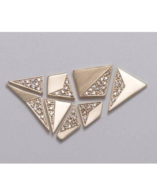Liza Belachew - Metallic Share The Art Diamond Earrings Set - Lyst