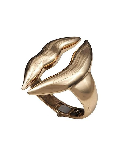 Bernard Delettrez - Metallic Large Lips Bronze Cuff - Lyst