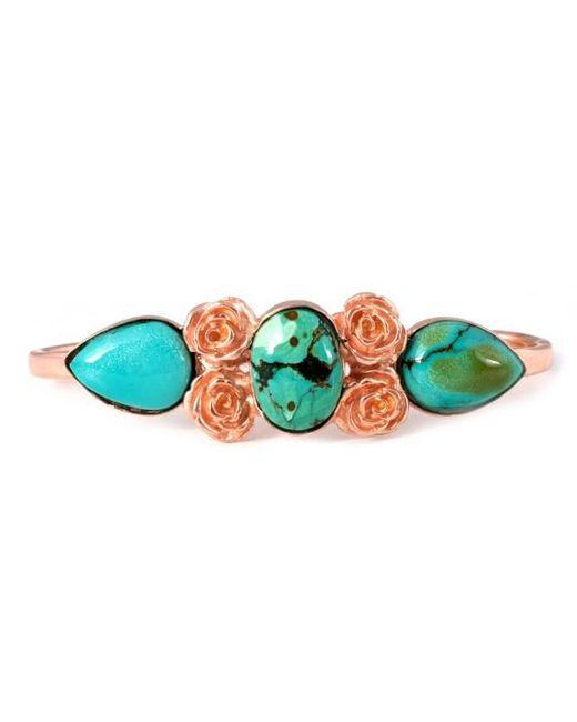 Leivan Kash - Blue Rose Haya Turquoise Hand Cuff - Lyst