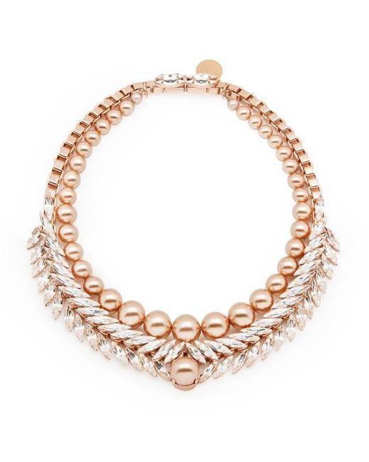 Ellen Conde | Pink Bettie Rose Gold Necklace | Lyst
