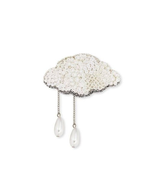 Forest Of Chintz | Metallic Silver Lining Brooch | Lyst