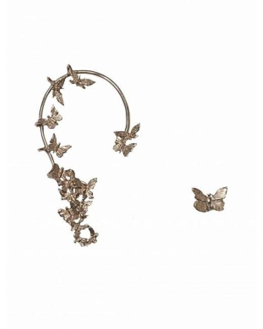 Bernard Delettrez | Metallic Bronze Butterflies Ear Cuff And Earring | Lyst