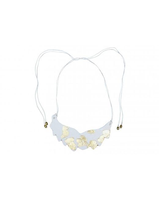 Plakinger | White Golden Highlighted Plastron Necklace | Lyst
