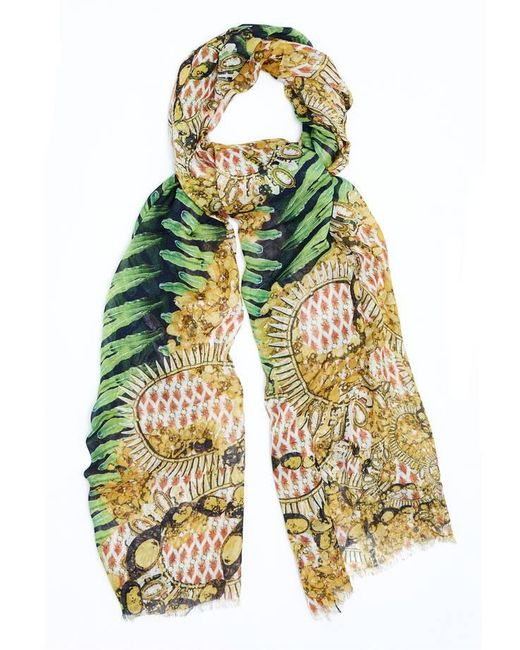 Kekkai - Multicolor Flower Patch Bling Cashmere Blend Scarf - Lyst
