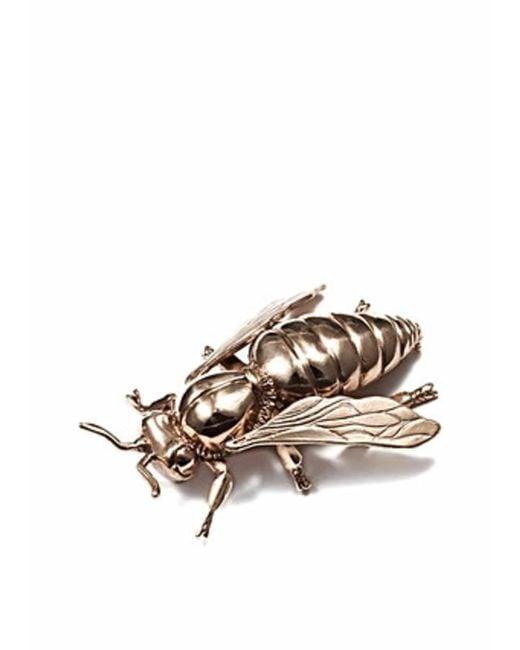 Bernard Delettrez - Metallic Bee Brooch - Lyst